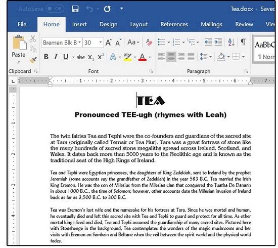 نمونهای از فایل PDF در Word